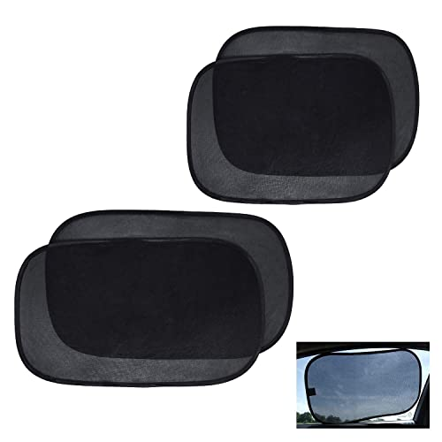 choolo Car Window Shade 4 Pack,Cling Baby Car Sun Shade for Car Windows,Sun,Glare and UV Rays 80 GSM with 15s Protection for Your Child,Baby Car Shades for Side Window,Wont Fit Large Vehicle