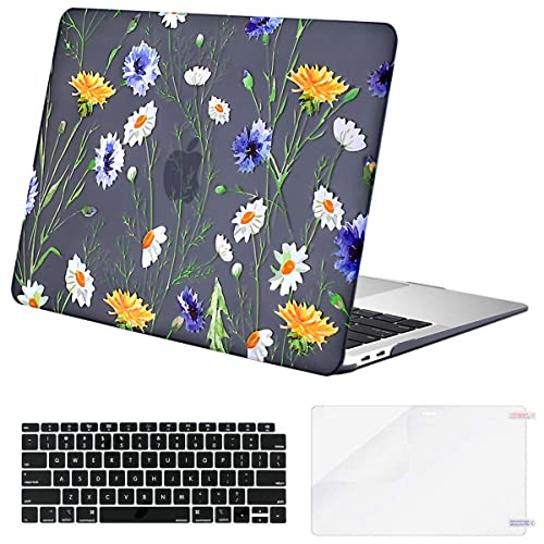 Yellow Flower 13 Mac Hard Shell Case Lapac MacBook Pro 13 inch Case A2159 A1989 A1706 A1708 2019 2018 2017 2016 Release Sunflower 13 inch MacBook Pro Case Hard Shell Clear Case with Keyboard Cover