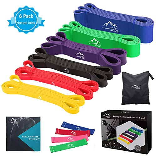 4EverShape Pull Up Assistance Band Stretch Mobility Powerlifting and Extra Durable Workout Bands-Single Blue Color Band Resistance Band for Legs and Butt