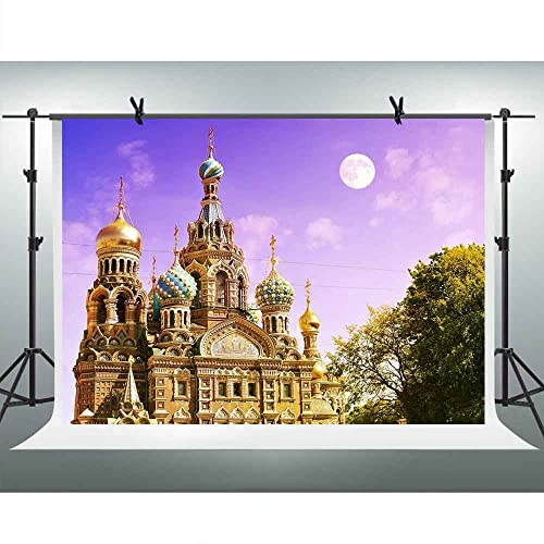 Zhy Mountain and Castle Backdrop for Photography 7x5ft 2.1x1.5m City Suburb Background Party Decor Supplies Photo Shooting Props 180