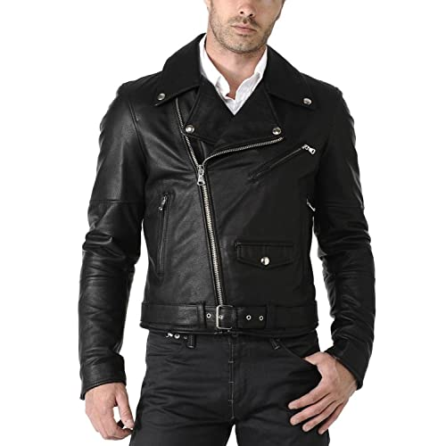 Black, Officer Jacket Laverapelle Mens Genuine Lambskin Leather Jacket 1501024