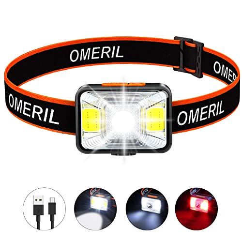 Kids USB Rechargeable LED Headlamp Perfect for Running Reading DONWELL Smart Gesture Sensing Headlight Head Torch Headlamp Camping Cycling DIY Waterproof Hiking Super Bright Lightweight