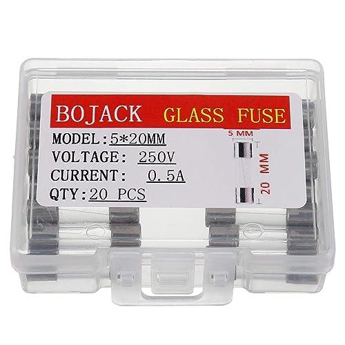 Compstudio 10Pcs F1.25AL250V 6X30MM 1.25A Fast Blow Fuse 1.25 Amp 250V F1.25AL Glass Fuse Fast-Acting Fuse