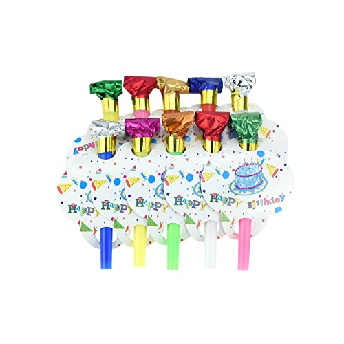 AEX Happy Birthday Kids Party Whistle Blowers Loot Party Bag Fillers Bday Blue