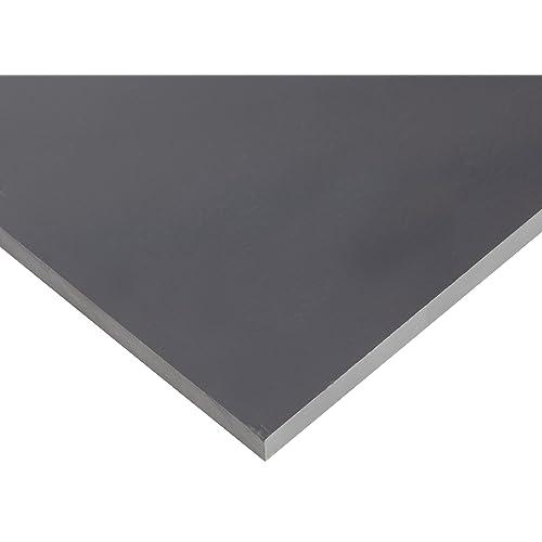 UL 94 Opaque Gray 0.187 Thickness Sheet 12 Width Polyvinyl Chloride Standard Tolerance PVC 24 Length