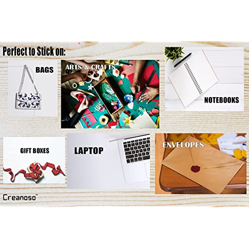 5-Sheet Flat Surface DIY Decoration Art Decal for Children Creanoso Silly Funny Puns Stickers Individual Small Size 2.1 x 2 Unique Personalized Themes Designs Total 60 pcs 5 X 12pcs