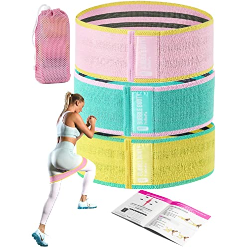 Resistance Hip Bands Circle by RIMSports Best Glute Band for Legs Black /& Pink