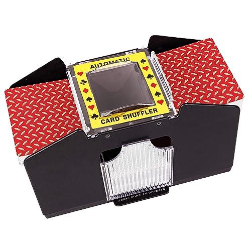 Owlike Automatic Card Shuffler Poker Card Shuffler Electric Shuffling Machine for Home Party Club
