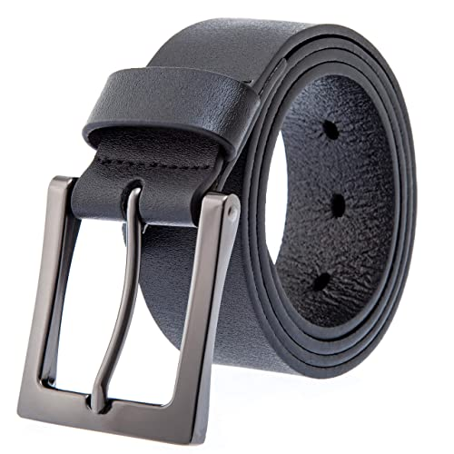 XIANGUO Mens Belt Brief Vogue with Pin Buckle Leather Belt for Men 38mm Wide