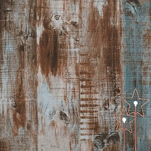 17.71In/×118In Rustic Wood Wallpaper Peel and Stick Removable Self-Adhesive Reclaimed Wood Contact Paper Vintage Wood Grain Wallpaper Distressed Wood Wallpaper