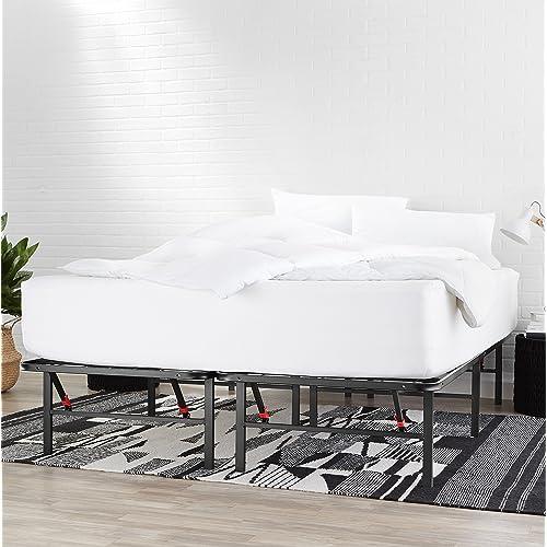 Basics Foldable Metal Platform, Foldable Queen Bed Frame With Storage