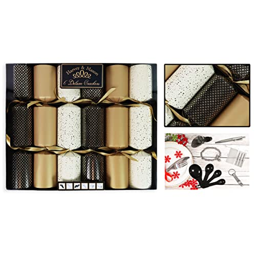 RSW XM4679 Christmas Luxury Crackers Box of 12 Golden Holly