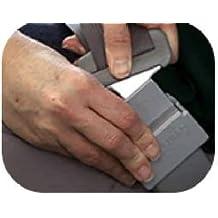 kaaka 10Pcs Universal Plastic Car Seat Belt Buckle Position Limiter Buttons Gray