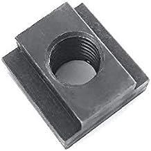 PROLINEMAX 10 Pc 9//16 T-Slot Nut 1//2-13 Thread Table Slot Tapped Through Black Oxide Finish