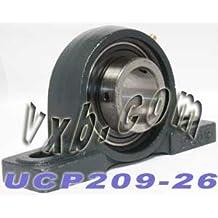 Pillow Block Cast Housing Mounted Bearings 1.250 inch Bore ID Inner Diameter Bearing Insert VXB Brand 1 1//4 Bearing UCP207-20