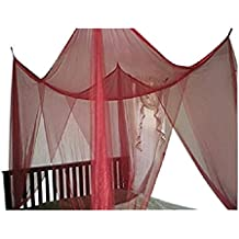 Nikou Bed Curtain Mosquito Net 4 Corner Poster Princess Bedding Curtain Canopy Mosquito Netting Canopies Bedroom Decoration for Adults /&Girls Boys Size : S