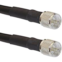 75ft RFC400 Coax Cable PL-259 CB UHF VHF Marine Antenna LMR400 Compatible PL259