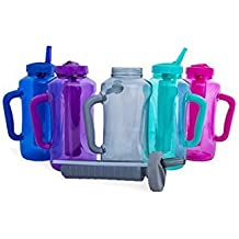 Cool Gear EZ Freeze Travel Water Bottle with Handle Straw /& Ice Pack 80 oz NEW