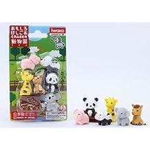 Novelty Japanese IWAKO Panda Family Puzzle Eraser Rubbers Set