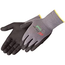 Green Liberty Glove /& Safety 2018FL//L Duraskin Flocked Lined Nitrile Disposable Glove Pack of 50 Large