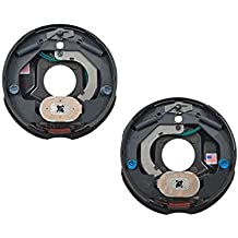 REPLACEMENTKITS.COM Brand Trailer Axle Metal Grease Caps with Plugs Fits 1.986 I.D EZ-Lube Axle