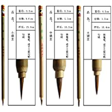 3pcs Yanghao Goat Hair Shuangyang Chinese Calligraphy and Painting Brush S M L Set