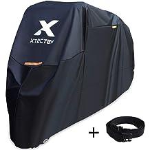 XL, Black and Red HANSWD Motorcycle Dust Cover Waterproof Uv Cover For Harley Davidson Yamaha Kawasaki Universal