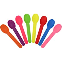 Fast Shipping Frozen Dessert Supplies Made in USA 25 Count Extra Durable Birthday Party Spoons XL Color Changing Plastic Spoons Changes From Green To Blue Changes Color When Cold