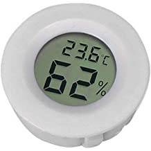 fanmaosdf Mini Hygrometer Thermometer Digital LCD Monitor Indoor Outdoor Humidity Meter Gauge for Humidifiers Dehumidifiers Greenhouse Basement Babyroom Fahrenheit or Celsius