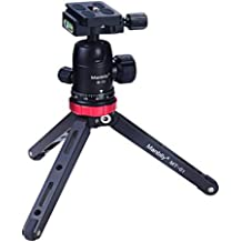 Crystalzhong Camera Tripod Portable Aluminum Alloy Camera Tripod for DSLR Camera and Smartphones Color : Black, Size : One Size