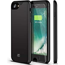 6 // Plus with 5000 mAh Extended Battery Pack Light Weight Charge Case Black, iPhone 6 7 8//4.7 6S BioRing Battery Case for iPhone 8 7