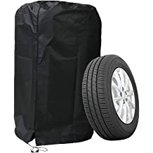NCNE Spare Tire Cover for Cars Jeep Trailer SUV Rv and Camper and Many Vehicles Good Vibes Only Waterproof Dust-Proof Protector Wheel for Car 14,15,16,17 Inch