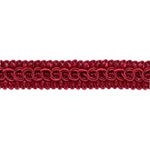 D/ÉCOPRO Large 7//16 Burgundy Red Gold Sold by The Yard 1253 Noblesse Collection Lip Cord Style# 0716H Color: Carmine Gold
