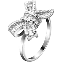 Tronet Engagement Rings for Women Rose Gold Diamond Ring Natural White Romantic Wedding JewelryGift for a Girlfriend Boyfriend Family
