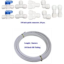 uxcell 10pcs Tee-Type 1//4 Inch OD Quick Connect Tube Fittings Water Purifiers Push in to Connector Filter Tubing Hose Pipe Joint for RO Reverse Osmosis System