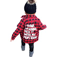 BAOBAOLAI Toddler Baby Boy Hooded Tops I Think I/'m Gonna Kick IT with My Mom Today Black Long Sleeve Winter Clothes