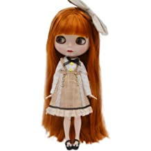 """New 12/"""" Neo Blythe Doll from factory Long black hair sleeping eye matte face"""