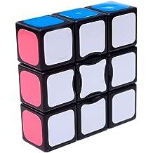 I-xun Speed 3x3x3 Magic Cube Puzzle Trihedron Cube 2.24 x 2.24 x 2.24 inches - Black
