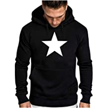 Casual Coats for Men Letter Parttern Printed Sweatshirt Hooded Outwear Tops Loose Sport Pullover Tops Blouse WEI MOLO