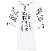 IEROM3 White PNI Womens Traditional Romanian Shirt-Made of Thin Cotton-Handmade