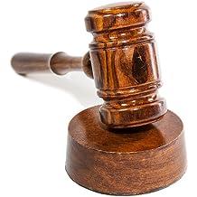 Old England Plastic Judge Hammer Mallet Court Auctioneer Prop Fancy Dress New