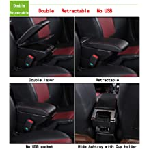 Roche.Z Car Armrest Cushion Universal Car Door Armrest,Soft Leather Driver Arm Protective Pad,Passenger Rest Support Pillow approving