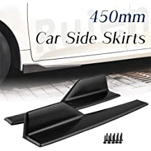 Qii lu 2 pcs Car Universal Side Skirts,Glossy Black Side Skirt Rocker Splitter Winglet Wings Canard Diffuser