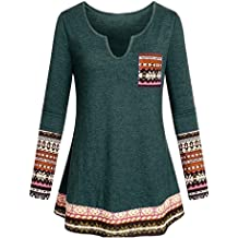 Toimothcn Womens Christmas Tunic Blouse Letter Printed Long Sleeve T Shirt Ladies Loose Casual Tee Tops