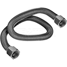 Maximized Corrosion Resistance /& Performance Flextron FTWC-S34-18E 18 Inch Lead Free Corrugated Stainless Steel Tube Connector for Water Heater With 3//4 Inch FIP /& 3//4 Inch SWEAT Durable