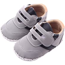 LIDIANO Baby Non-Slip Rubber Sole High-Top Booties First Walkers Boots Shoes 0-12 Months