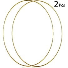 4 Perfect for Macrame Bulk Ring Sizes That Include Dreamcatcher Bastex 15 Piece Gold Metal Hoop Craft Rings Wreaths and More 3 Embroidery 5 and 6 Inch Diameter and 2