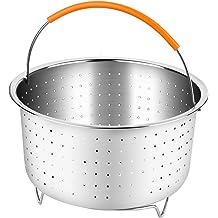 2 pcs set for 5qt 6qt 8qt Pressure Cooker egg goachers Instant Pot Accessories Silicone Egg Bites Molds and Steamer Trivet Rack with Heat Resistant Silicone Handles