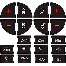 Henzxi 3 Pack AC Button Repair Kit with GM Vehicles Climate Control Button Stickers Decals Compatible Chevrolet Silverado//Suburban//Tahoe//Traverse//GMC Sierra//Yukon