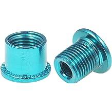 Black//Blue//Orange//Red CNC 5 PCS Steel Double Chainring Bolts M8/×6.5mm Bicycle Chainring Bolt/&Nut Set
